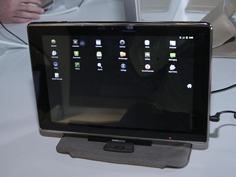 Hanspreeが第3四半期に発売するAndroid 3.0タブレット「SN10T3」