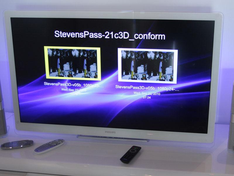 フィリップスの偏光3Dテレビ「7000シリーズ」の42型