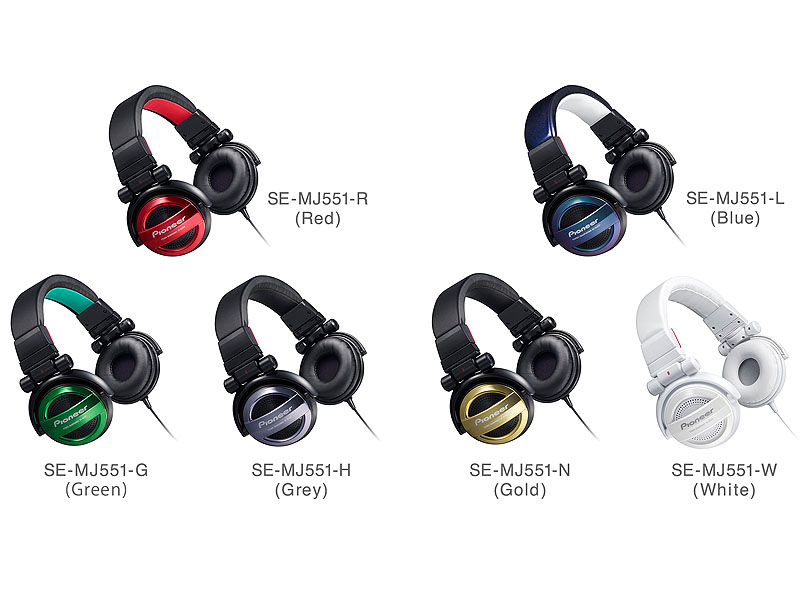 「SE-MJ551」のカラーは(R)レッド、(G)グリーン、(H)グレー、(L)ブルー、(N)ゴールド、(W)ホワイト