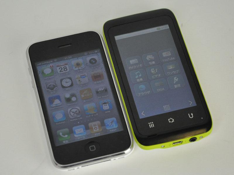 iPhone 3GSとの比較