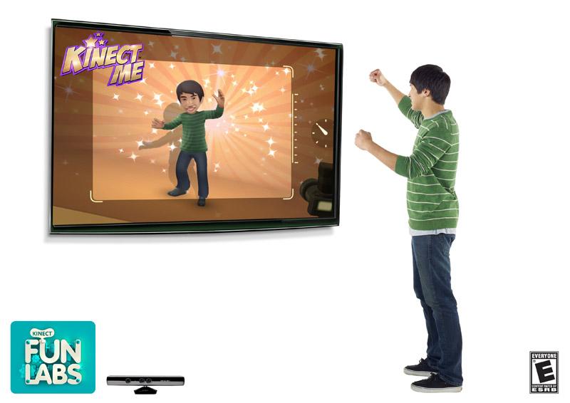 Xbox Liveで配布が始まっている「Kinect Fun Labs」のひとつ「Kinect Me」。自分の姿から自動的にアバターを生成する