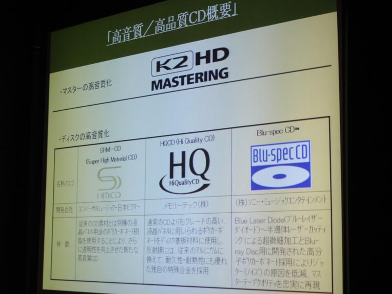 現在主に流通している3種類の高品位CD。今回はHQCDが使われている