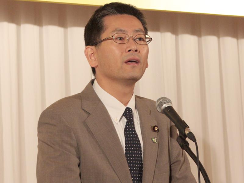 """<font size=""""2"""">総務大臣政務官の森田高氏「高齢者などのサイレント層が残されないように万全を期したい。残された期間、ラストスパートをかけるので、最後のご協力をお願いしたい」</font>"""
