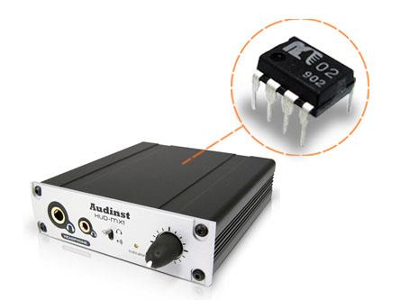「HUd-mx1」はDACの出力部のオペアンプを「MUSES02」に変更