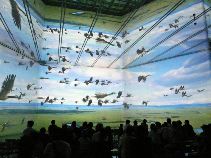 ハウステンボスにはこのほかにも映像を利用したアトラクションが複数ある。IFXシアターでは、幅9メートル、高さ7メートルのスクリーン3面と鏡を利用した映像を上映