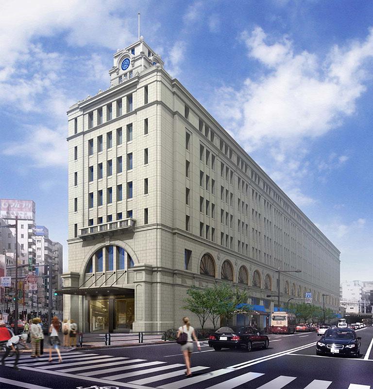 2012年春リニューアル後の浅草駅ビル、イメージ図