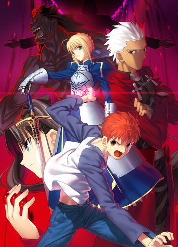 """Fate/stay night         <br><font size=""""1"""">(C)TYPE-MOON/Fate Project</font>"""