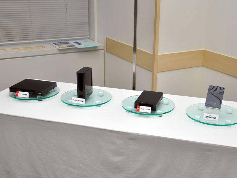 アイ・オー、ウェスタンデジタル、バッファロー、パナソニックの対応HDD