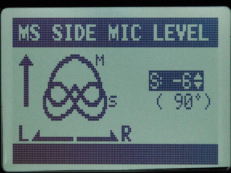 Sideのレベルを固定し、MSマイクの音をデコードしたステレオ音声での録音も可能