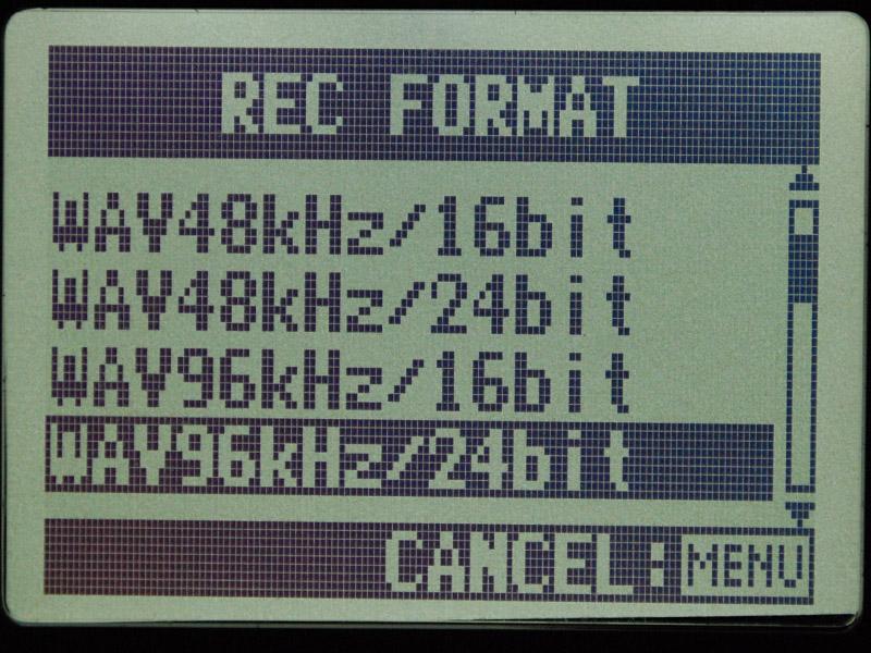 24bit/96kHzで録音