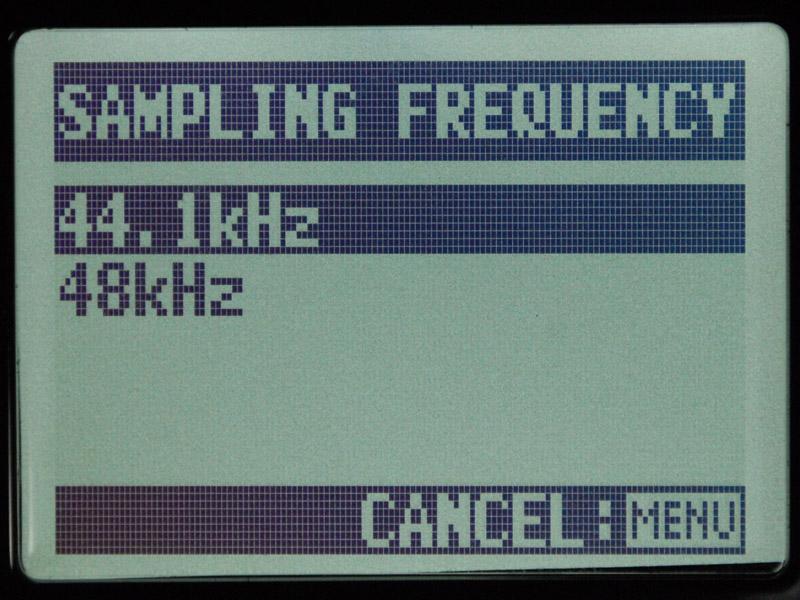 USBオーディオ時は16bit、44.1/48kHzまでとなる