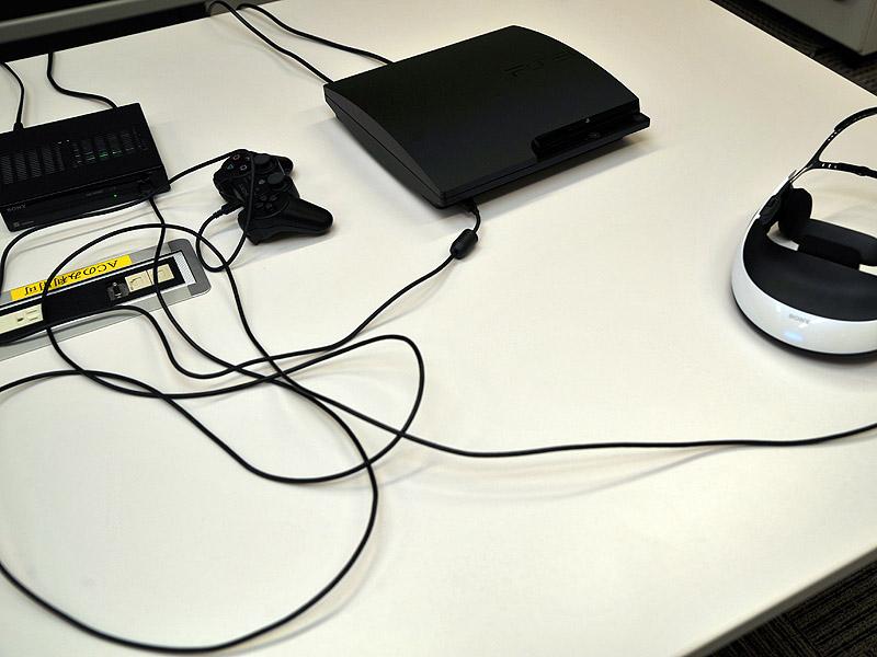 ヘッドマウントユニットとプロセッサは専用ケーブル1本で接続する