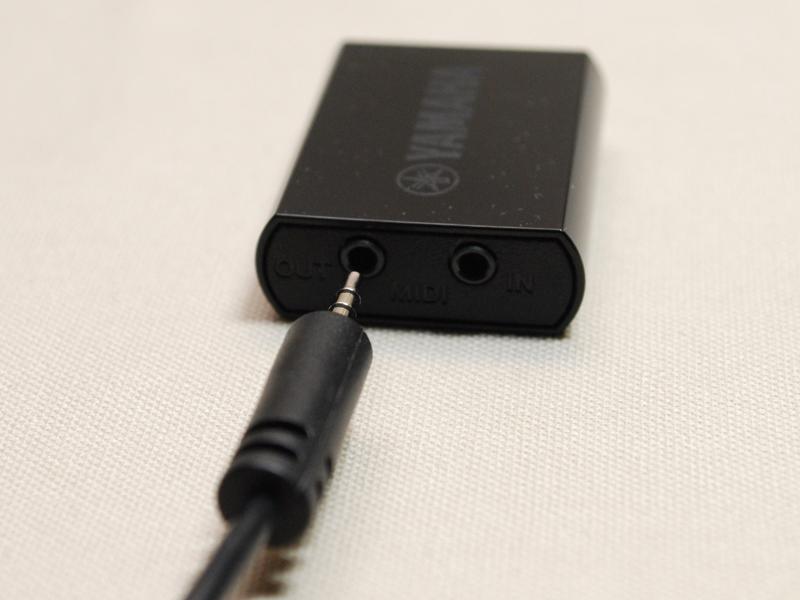 ミニジャック-MIDI端子の変換ケーブルが付属する
