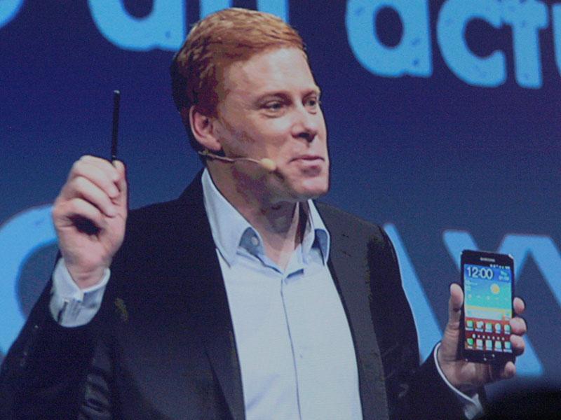 5.3型液晶の「Galaxy Note」