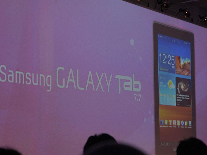7.7型タブレット「GALAXY Tab 7.7」