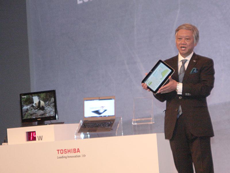 前日に発表したAndroidタブレット「AT200」