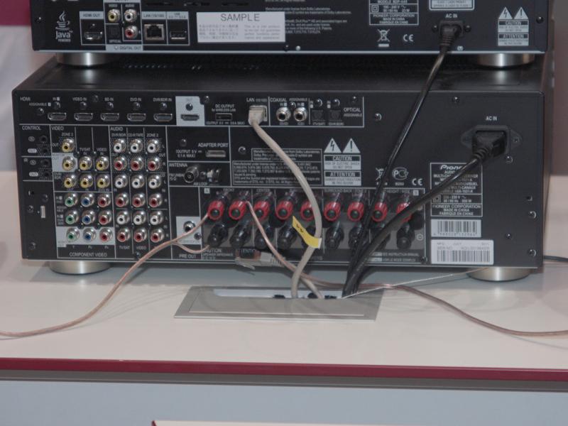 VSX-1021の背面
