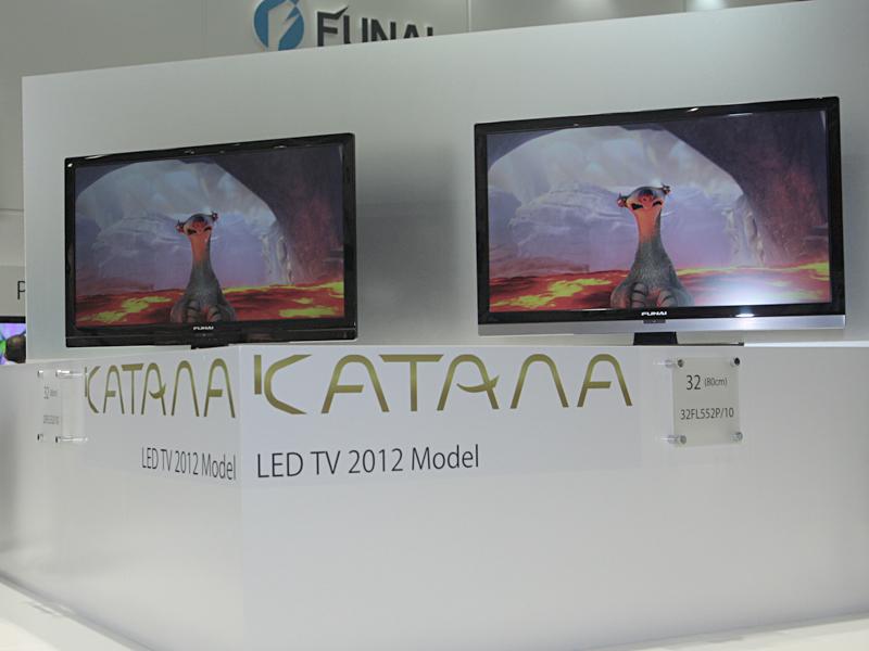「KATANA LED」テレビの展示
