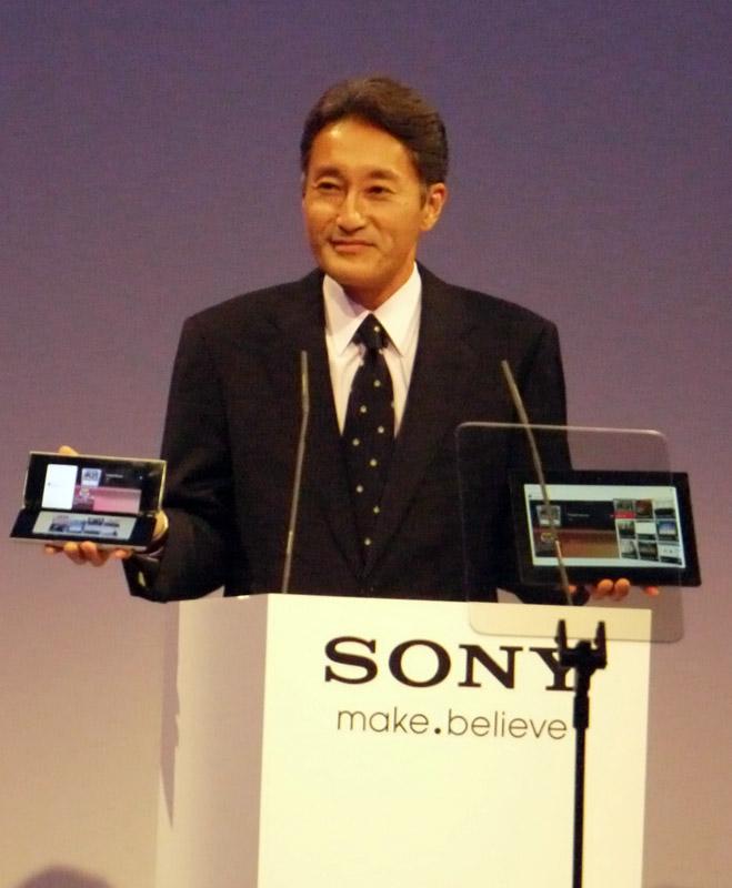 Sony TabletとSENを発表するソニー平井副社長