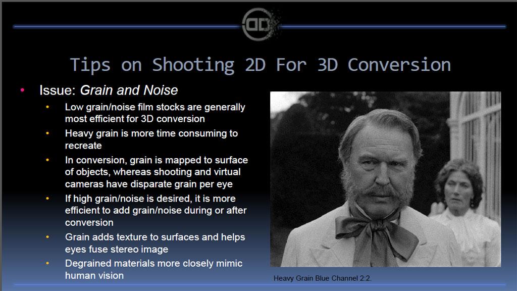 フィルム粒子の扱いが、存外に3D変換時には難しいとか。ケースバイケースで対処を行なう
