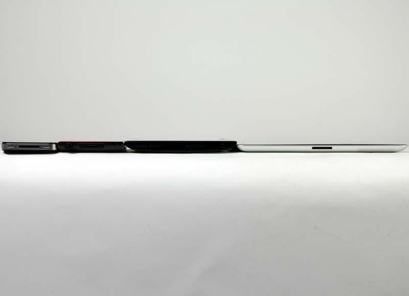 iPhone 4S、NW-Z1050、GAPALAGOS EB-A71GJ-B、iPad 2の比較