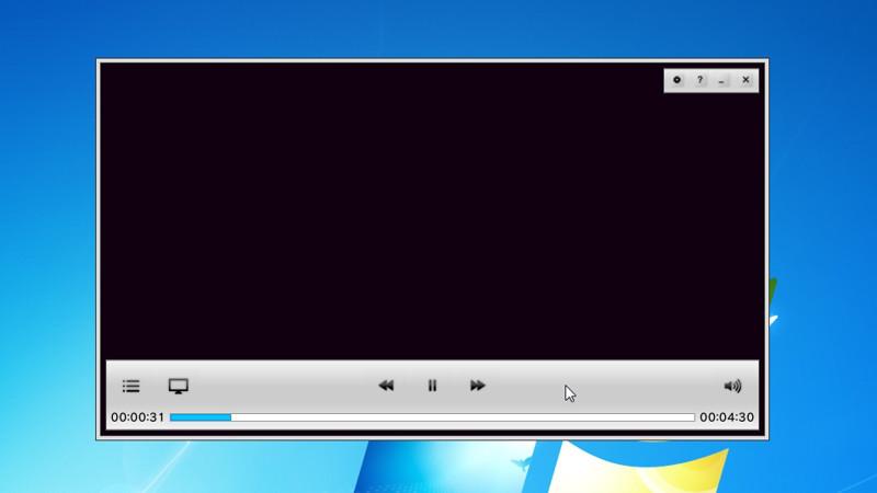 録画した番組の再生画面。ニコニコ実況ボタンは表示されない