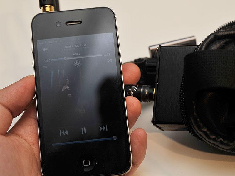 「SRH1840」とiPhone 4Sを直接接続し、フルボリュームにしたが、やや小さめの音までしか出ない。アンプと組み合わせたいモデルだ