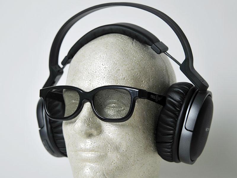 3Dメガネ着用時の装着イメージ