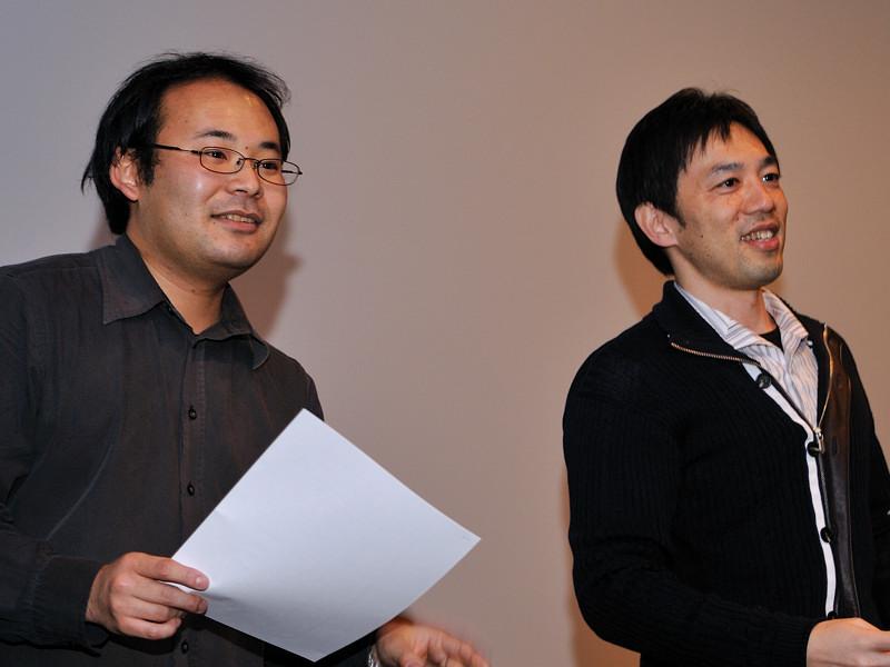 左からキングレコードの山中隆弘プロデューサー、BDAのABI氏