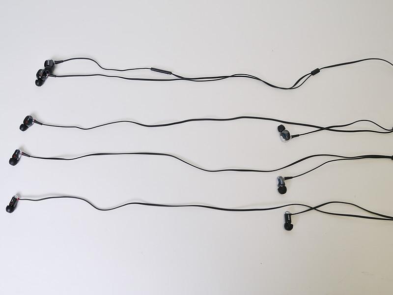 ケーブルは60cmでネックチェーン型。iPhone対応の「XBA-4IP」は1.2mのY型となる
