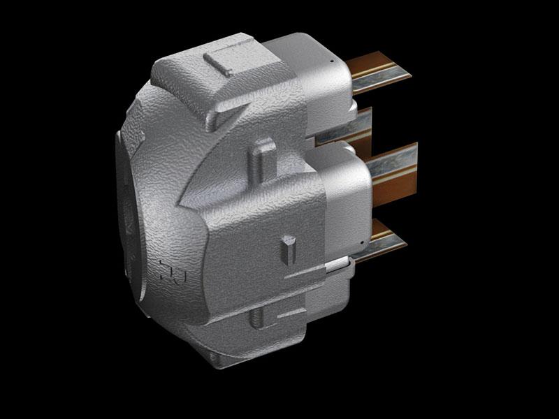 XBA-4SLの内部パーツと、そこに固定されたBAユニット