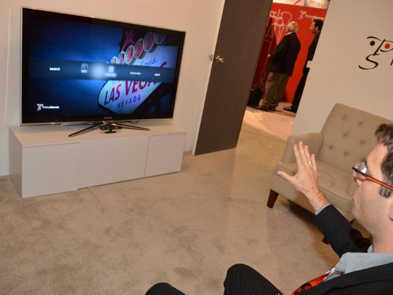 Kinect技術の生みの親、PrimeSenseは、この技術をテレビ向けのUIへと売り込み中