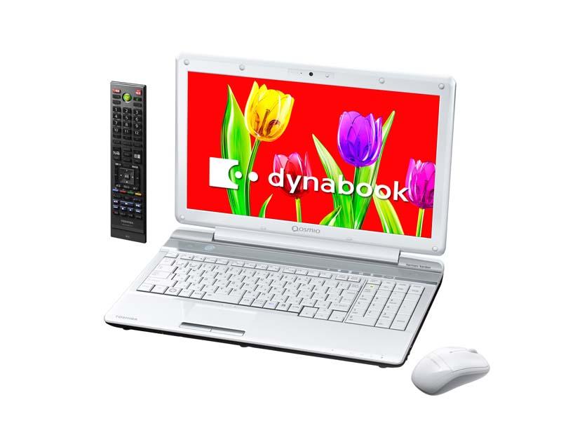 「dynabook Qosmio」のT751/T8E(左/オーロラホワイト)とT551/T4E(右/ベルベッティホワイト)