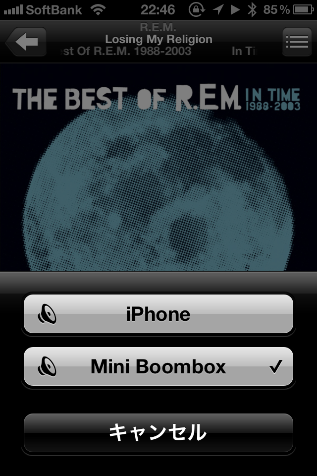 iTunesからMini Boomboxを選択