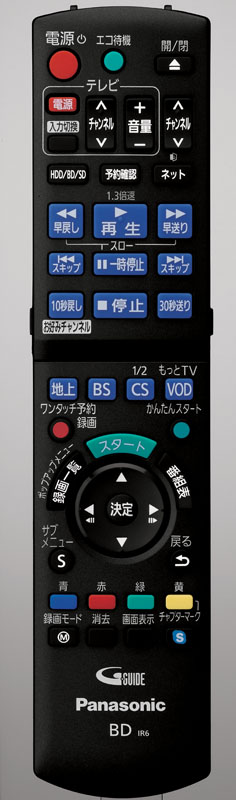 DMR-BZT820/720のリモコン