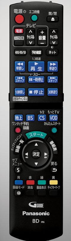 DMR-BWT620/520のリモコン