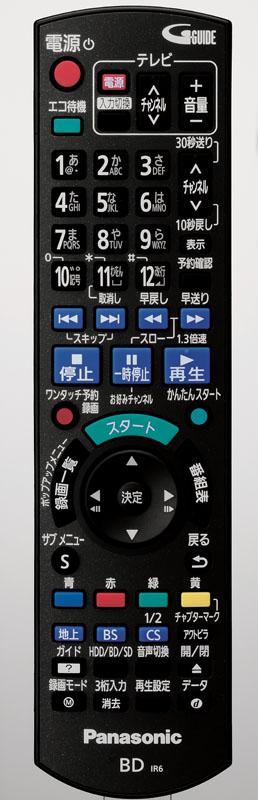 DMR-BRT220のリモコン