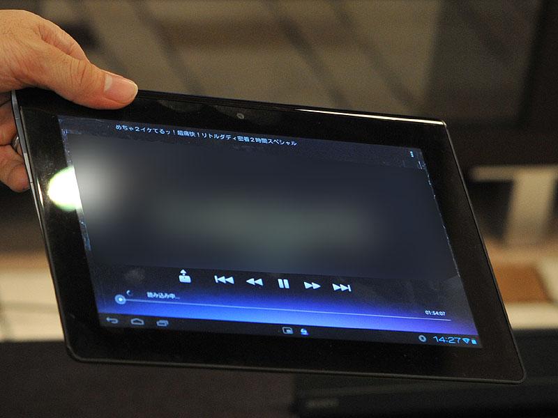 BDレコーダの録画映像をタブレットで表示しているところ