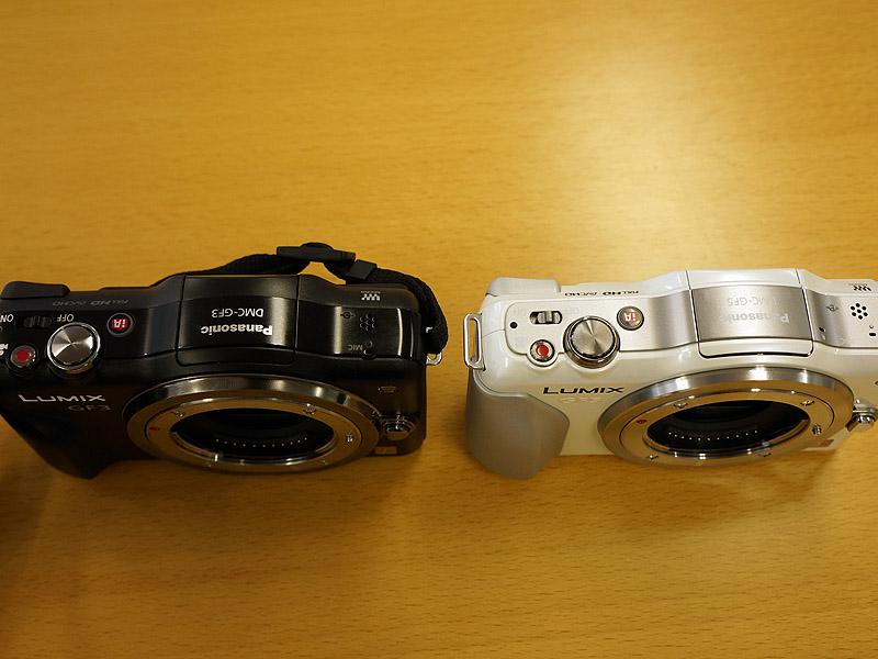 左が前モデルのGF3。デザインの傾向は踏襲している