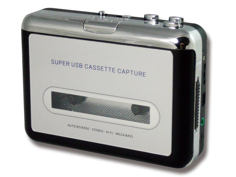 同梱するUSBカセットプレーヤー。単体でも販売する