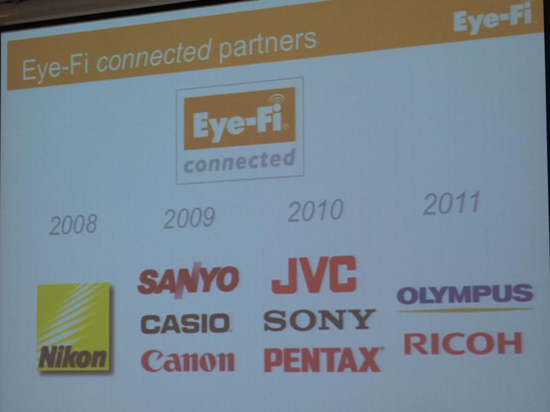 多くのカメラメーカーがEye-Fiに対応