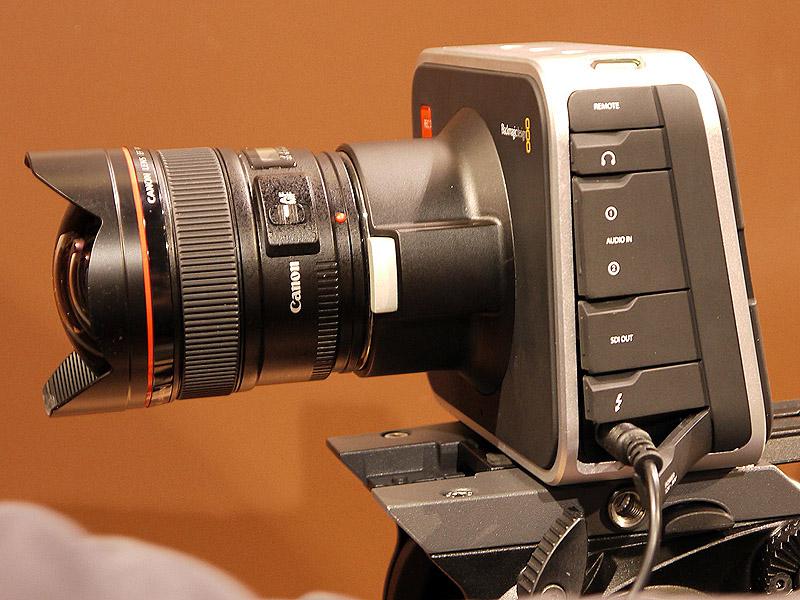 2.5K撮影可能なBlackMagic Cinema Camera