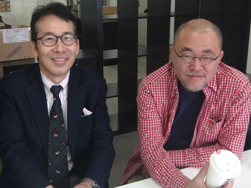 出版デジタル機構・代表取締役の植村八潮氏(左)と、ポット出版・代表取締役の沢辺均氏(右)。出版デジタル機構の構想を作りあげた、キーマンの2人だ