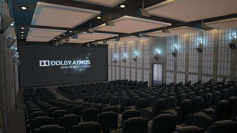 「Dolby Atmos」を導入した映画館のイメージ
