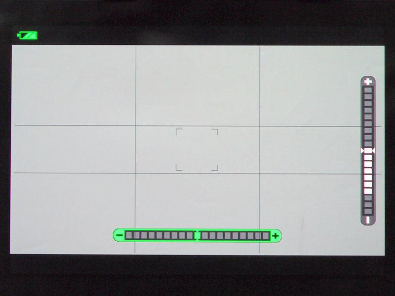 縦横の水準器表示が便利