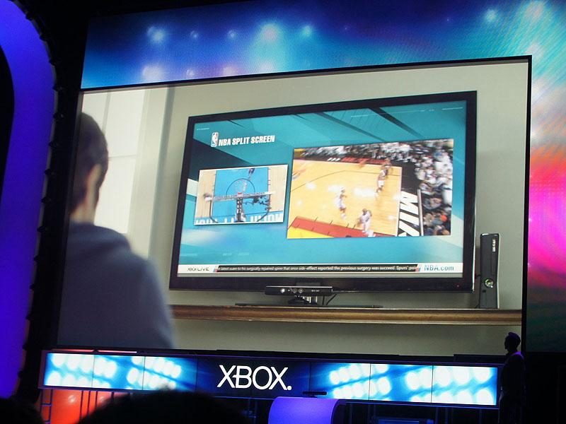 NBAの中継を、画面分割で楽しむ。メイン画面の入れ替えや、1画面への移行もワンタッチだ