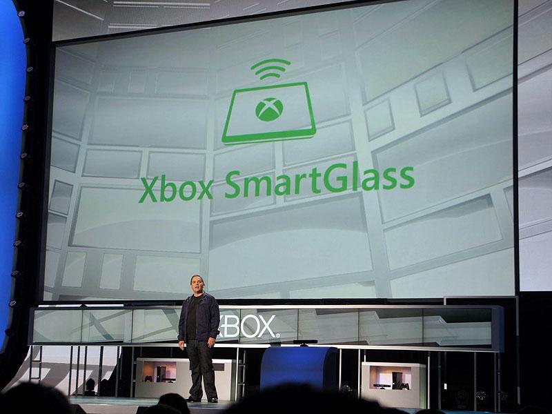 Xbox SmartGlassのロゴ。Xbox 360を中心に、様々なデバイスを連携させるテクノロジーだ