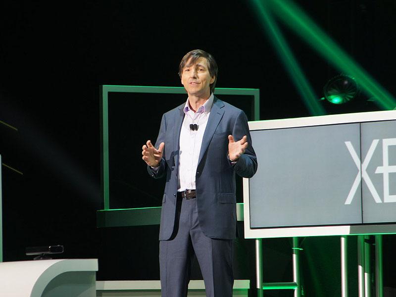マイクロソフト・Xbox事業の責任者であるドン・マトリック氏。今年はゲームにおいてもコンテンツにおいても「広がり」をアピールするようなシーンが多かった