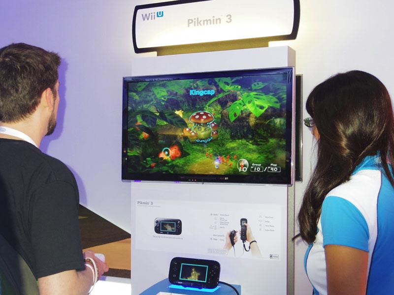 会場では、コアゲーマーには「ピクミン3」、そうでない層には「NintendoLand」のプレイが人気。どちらも来場者はとても楽しそうだった
