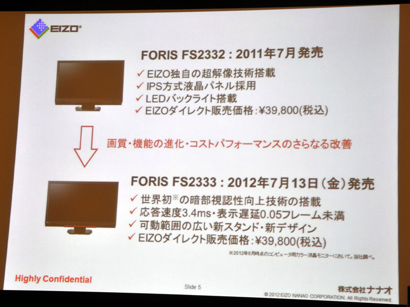 FS2333進化のポイント